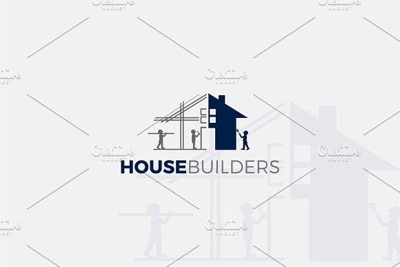 House Builders Architect Logo