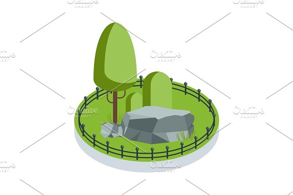 Isometric Green Garden