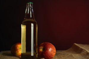 Apple cider bottle