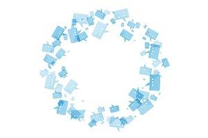 Blue Message frame