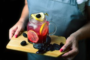 Blackberry Basil Lemonade,