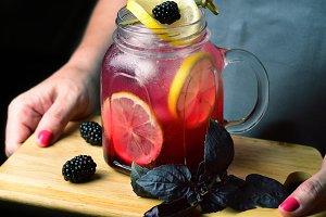 Blackberry Basil Lemonade,