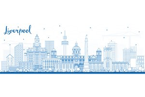 Outline Liverpool Skyline