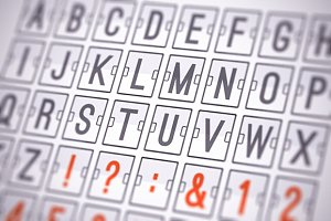 White Airport Table Alphabet Set