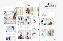 Adore - Beauty Fashion Blog Theme by  in Blog