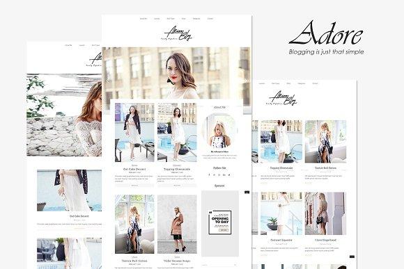 Adore Beauty Fashion Blog Theme