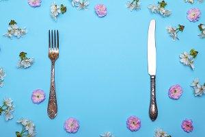 vintage fork and knife