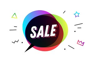 Sale. Banner, speech bubble, poster