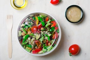 Healthy Vegetarian Salad, Delicious Vegan Meal