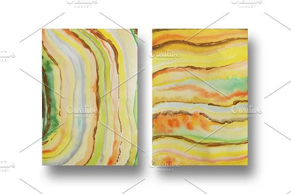 Agate watercolor texture backgrounds in Textures - product preview 14