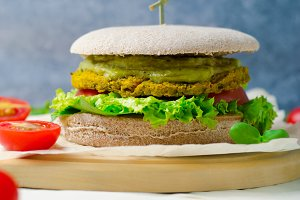 Healthy vegan burger, Vegan Meal