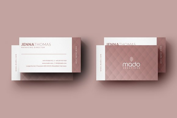 Premium Pink Business Card
