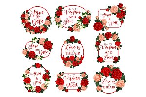 Save the Date vector flower for wedding invitation