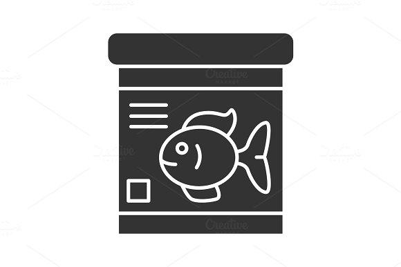 Fish Food Jar Glyph Icon