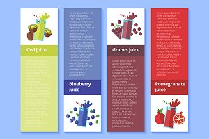 Fresh fruit drinks banners