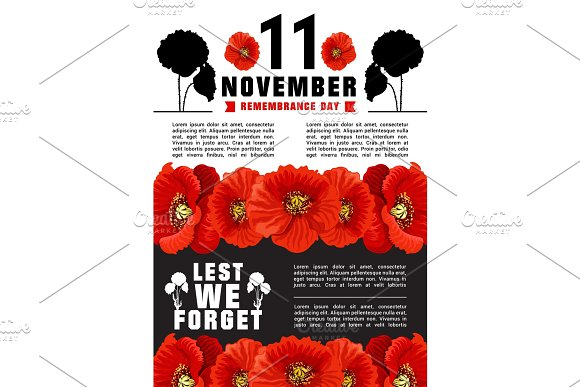 World Remembrance Day Vector Banner