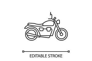 Motorbike linear icon