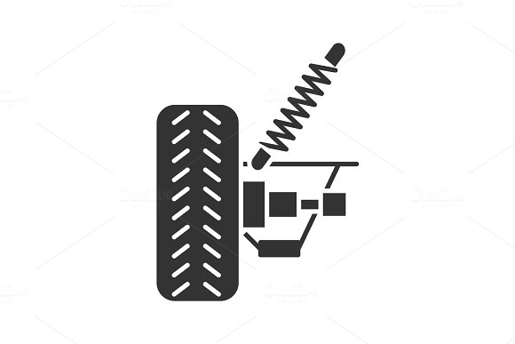 Car Suspension Glyph Icon