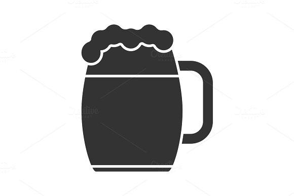 Beer Mug Glyph Icon