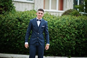 handsome young guy at prom day