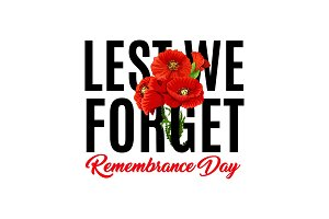 Remembrance day vector poppy icons