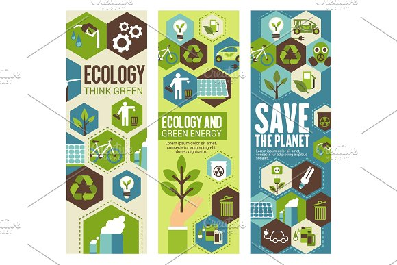 Environment Protection Banner For Eco Concept