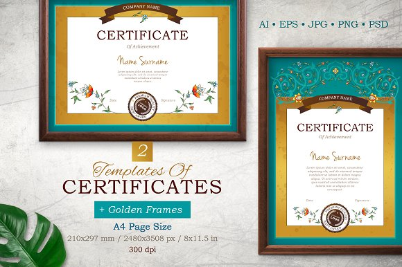 Templates Of Certificate Frame.Vol.3