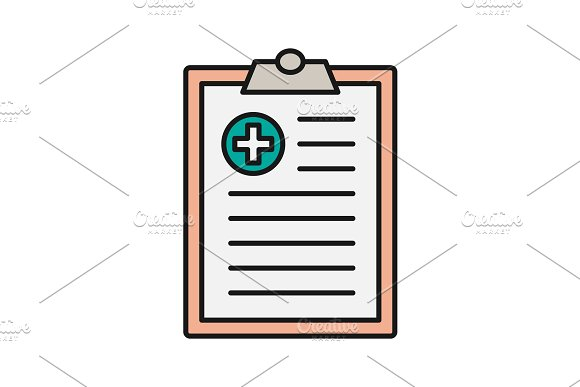 Medical Report Color Icon