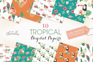 Tropical Seamless Patterns Exotic