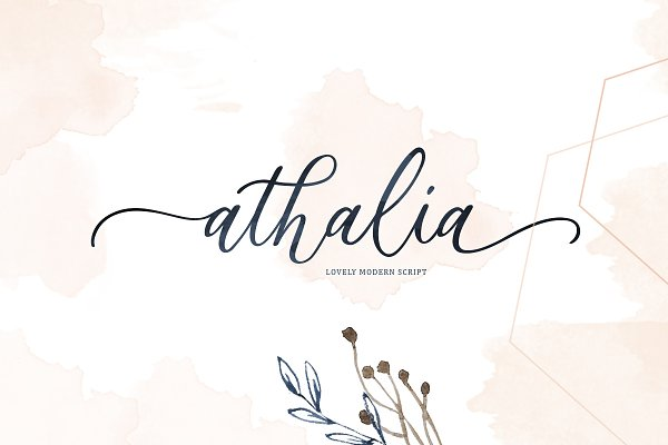 Athalia - Modern Calligraphy Script