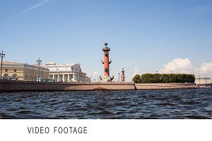 Timelapse of traveling on Neva river