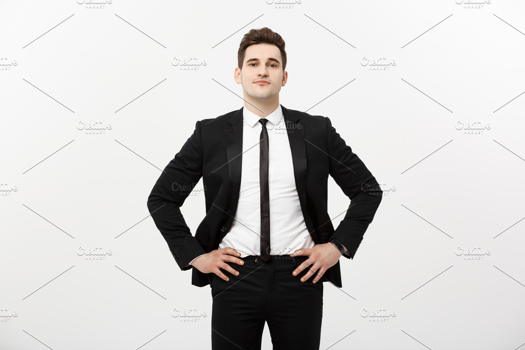 398ce9d475e Business Concept  Handsome Man Happy Smile Young Handsome Guy in ...
