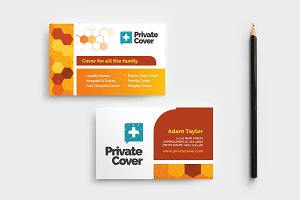 health insurance business card