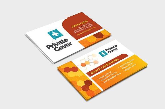 Health insurance business card business card templates creative health insurance business card business card templates creative market colourmoves