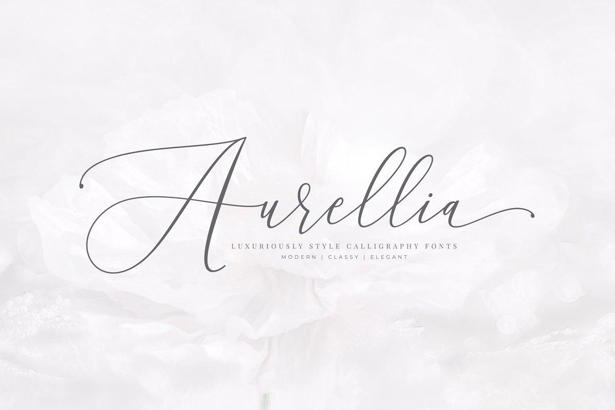 tipografía Aurellia para logos elegantes