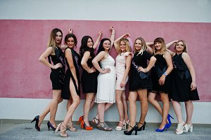 Hen party celebrating