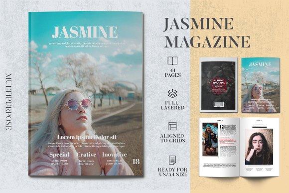 Jasmine Magazine Template