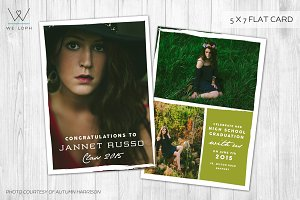 Senior Graduation card announcement