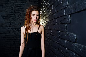 Portrait of girl in dreads at studio