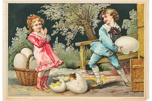 Easter card Vintage  50% OFF