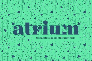 Atrium Seamless Pattern Set