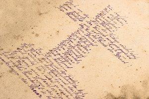 easter poem handwritten as cross