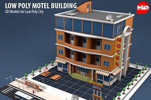 Low Poly Motel Building