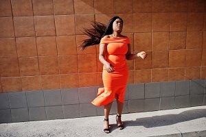 African american woman model
