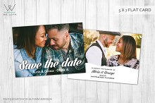 Modern Save the date template card