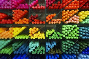 Colorful pen markers