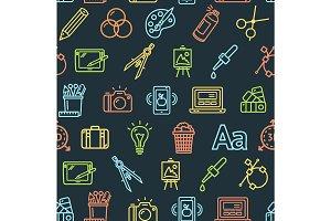 Graphic Design Pattern Background.