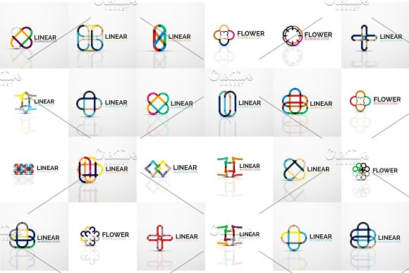 Logo Mega Collection Abstract Geometric Business Icons