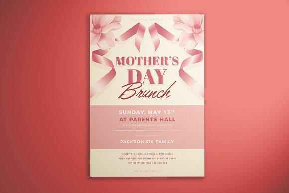 mother s day brunch flyer flyer templates creative market