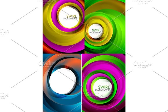 Mega Collection Of Swirls And Circles Geometric Abstract Backgrounds Posters